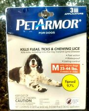 PETAMOR For Dogs 3 applicators Med Dogs 23-44 lbs 8 weeks or older NIB