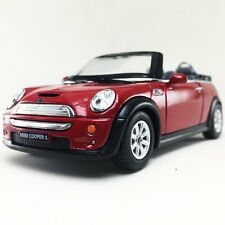 "New 5"" Kinsmart Mini Cooper S Convertible Diecast Model Toy Car 1:28 Red"