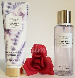 VICTORIA SECRET - LAVENDER AND VANILLA RELAX - LOTION AND MIST (SET) - NEW