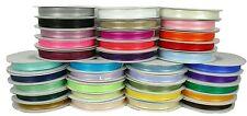"3/8"" Organza Sheer SATIN EDGE Ribbon 25 yds each Roll 100% Nylon"