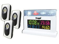 Funk Wetterstation Froggit WS70 Weiss Full Colour Display inkl. 3 Sensoren