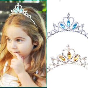 Kids Girls Child Wedding Prom Crystal Rhinestones Tiara Princess Crown Headband