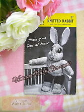 Vintage 40s Toy Knitting Pattern. Introducing 'Mr. Rabbit!' JUST £1.99 FREE P&P