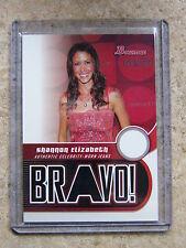 2005 Bowman NBA Bravo! Worn Jeans SHANNON ELIZABETH #BV-SE Leaf Razor Poker