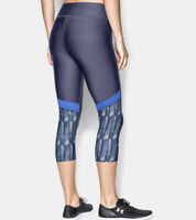 Under Armour Heatgear Alpha Compression Capri Legging Blue Womens Size Medium