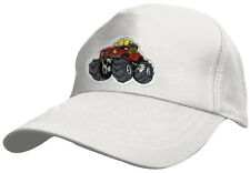 Children Baseball Cap Cap Screen Cap White with Embroidery Monster Truck 69127