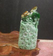 Certified Green Yellow 100% Natural A Jade jadeite Display Frog Toad Ruyi 381898