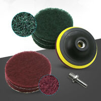 4'' Mix Grit Sander Disc Sanding Polishing Pad Drill Adapter + Backer Plate Tool