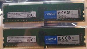 Crucial RAM 64GB (2x32GB) DDR4 2666 MHz CL19 (Desktop) (mit Restgarantie)