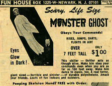Vintage Scary Life Size MONSTER GHOST Over 7 Feet Tall (Selling actual 7' Ghost)