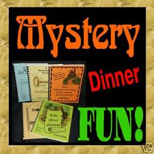 Mystery Dinner FUN(not murder)Scripts * Theater * Plays
