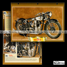 #141.12 Fiche Moto NSU 500 SS 1933 (SUPERSPORT) Motorcycle Card