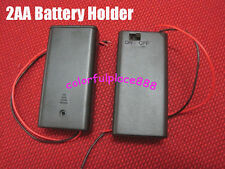 50 pieces, 2 AA BATTERY HOLDER  BATTERY BOX WITH ON/OFF SWITCH