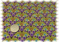 Baroc Fleur Stretch-Jersey lime Hilco Shirtstoff 50 cm Blumenjerey Blumenstoff