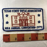 Vtg RED Alamo Ver 1979 NRA ANNUAL CONVENTION TEXAS STATE RIFLE ASSOC. Patch 04MJ
