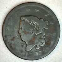 1817 Coronet Head US Large Cent Copper Coin AG Almost Good 1c US Penny Coin