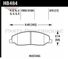 HAWK HB484F.670 HPS Performance Street Brake Pads Ford Mustang 2005-2008