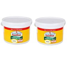2 for £59.99 - Sandtex - Magnolia Masonry Paint 7.5L -Ultra Smooth Quality Paint