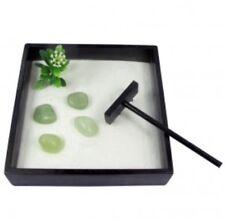 Pequeño jardín Zen Bambú Jade Set Kit Escritorio Meditación Relajación
