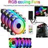 5 x RGB Game 120mm Desktop PC Cooling Case Fans with Control 12cm Cooler New