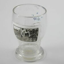 Glas bemalt mit Gehöft um 1888 Sepiamalerei