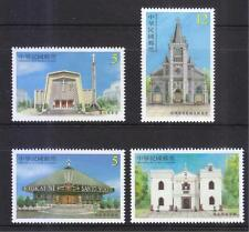 REP. OF CHINA TAIWAN 2016 CHURCH ARCHITECTURE COMP. SET OF 4 STAMPS IN MINT MNH
