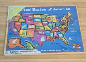 CIRCO USA of America Map Wooden Puzzle yr 5+ / New Sealed