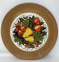 "Nevco Japan Round Tray 13"" fruit motif Plastic Vintage"