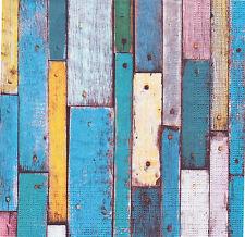 2 Serviettes en papier décor bois Decoupage Paper Napkins Vintage Wood