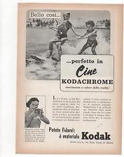 Pubblicità epoca 1956 KODAK CHROME CINE FOTO advert werbung publicitè reklame