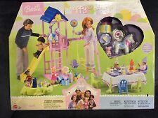 Barbie Doll HAPPY FAMILY BABY's 1st BIRTHDAY PLAYSET, 2003, #B6292, NEW
