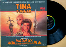 """TINA TURNER - We Don't Need Another Hero (12 """" / MAXI 45 TOURS) FRANCE - 1985"""