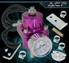 Universal Race Fuel Pressure Regulator Jdm Vip Adjustable Billet + Gauge Purple