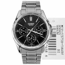 Casio MTP-1375D-1 New Original Analog Silver Stainless Steel Mens Watch MTP1375D