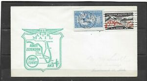 1959 AM-8 First Flight Air Mail Cover Route Extension, Tampa - Miami, Back-stamp