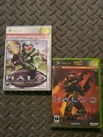 LOT: Halo: Combat Evolved (Platinum Hits) & Halo 2 Complete  (Microsoft Xbox)