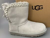 UGG CLASSIC SHORT II BRAIDED Suede Boots Kids 6 Equal WOMEN US7.5 #1103617 $155