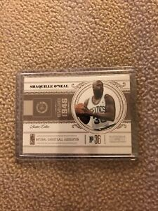 SHAQUILLE ONEAL 2010-11 Playoff National Treasures #6 CENTURY /99 Celtics