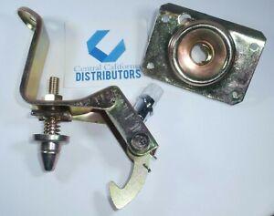 1969-1979 VW Upper Hood Lock Carrier W/ Pin & Lower Hood Latch Set OE VW