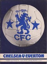 Chelsea v Everton - Div 1 - 3/12/1977 - Football Programme