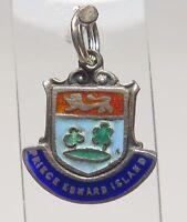 Sterling Silver Charm Enamel Shield Prince Edwards Islands Flag Souvenir 1.8g