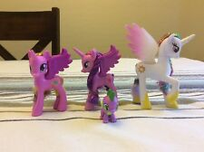 My Little Pony G4 Lot Of 4 Princess Twilight Sparkle Cadence Celestia Spike