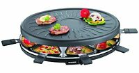 Barbecue Grill Party Grill with 8 Mini Pans Raclette 1100 W Severin RG 2681 New