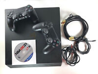 Sony PlayStation 4 Pro 1TB Console 2 Controllers Cables PS4 NBA 2K21 Bundle