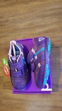"""New Pediped Flex """"Gehrig""""purple machine washable athletic shoes,9-9.5(26),Nib"""