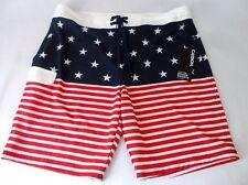 NEW MENS CARBON FREEDOM FLEX AMERICAN USA FLAG BOARD SHORTS SZ 38 NWT