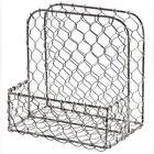 New Farmhouse Rustic Primitive Chicken Wire Napkin Holder Salt Pepper Basket