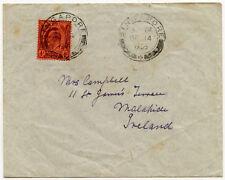 MALAYA SINGAPORE to IRELAND MALAHIDE KE7 4c on 1905 ENVELOPE