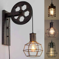 Industrial Rustic Wall Lamp Single Cage Wall Light Hallway Warehouse Wall Sconce