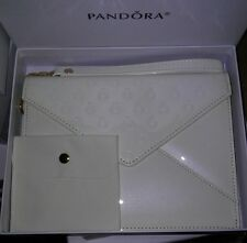 """NEW"" AUTHENTIC PANDORA JEWELRY ""FILLED WITH LOVE"" WRISTLET/CLUTCH VINYL HANDBAG"